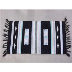 """Navajo Blanket- Fringed- 38""""L X 19""""W"""