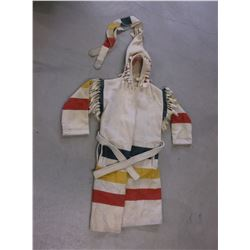 Woolrich Hudson Bay Style Hooded Capote- Size Small- Belt- Fringed