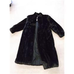 "Black Ranch Mink Coat- Anthony's Furs- Pockets- 49""L"