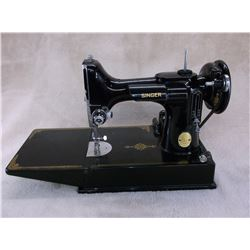 Singer Featherlite Sewing Machine With Case- All Accessories- Runs Like a Top