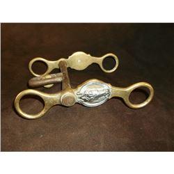 Unmarked Beurmann Hercules Bronze Bit- Short Shank Halfbreed Mouth- Horseheads