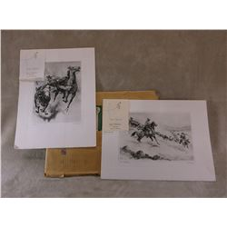 2 Prints By RH Palenske- These Were Sent As Seasons Greetings By WA Moreno From Furstmow's