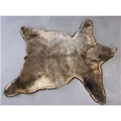 """Blonde Bear Double Matted Rug- Nose to Tail 69""""- Across Front Legs 72""""- Across Hind Legs 64"""""""