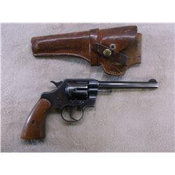 """Colt Official Police Revolver- .22LR Caliber- 5.75"""" Barrel- Original Grips- Holster- 10419"""