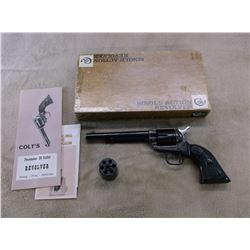 "Colt Peace Maker Revolver- .22LR- .22Mag- 6"" Barrel- Case Hardened- Original Grips- Manual- Box"