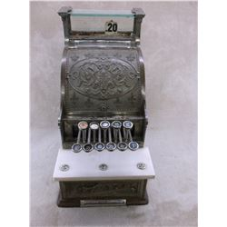 National Candy Store/ Barber Shop Brass and Marble Cash Register- Model 5. Serial #S69757
