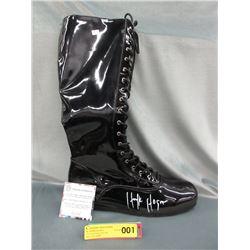 Autographed Hulk Hogan Size 14 Wrestling Boot