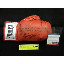 Autographed Earnie Shavers Everlast Boxing Glove