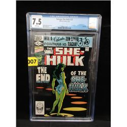 "CGC Graded Last Issue 1982 ""She Hulk"" #25 Comic"