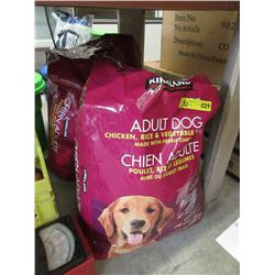 2 Large Bags Kirkland Dog Food - Resealed