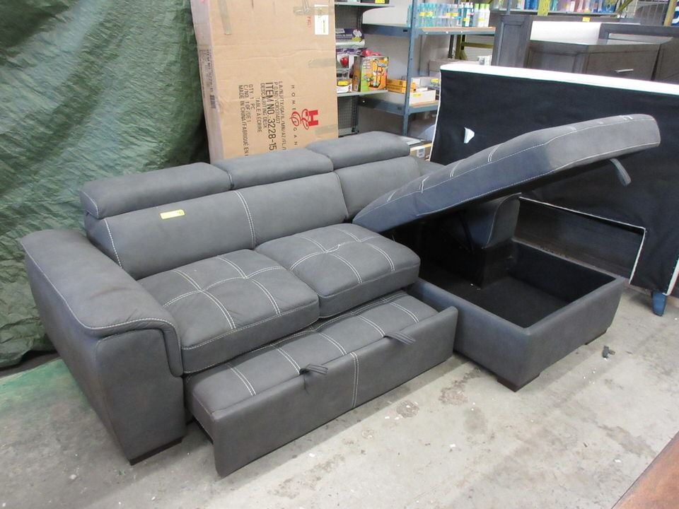 Sofa Bed Sectional with Chaise End