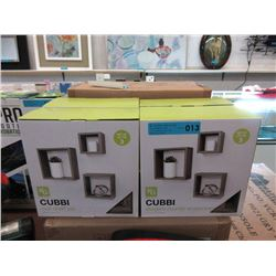 Case of 3 Piece Cubbi Wall Shelf Sets