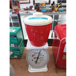 25 LB Kitchen Scale & 60s Canister Set