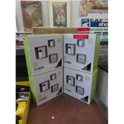 Four New 3 Piece Cubbi Wall Shelf Sets