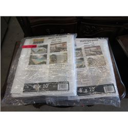 2 New Multi Purpose 8 x 10 Foot Clear Poly Tarps