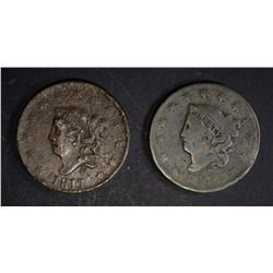 1816 G/VG & 1817 XF CORRODED + SCRATCH