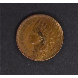 1903 INDIAN CENT, CH BU+ NICE!!