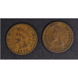 1886 TYPE-1 VG/F & 86 TYPE-2 VF INDIAN CENTS