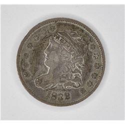 1832 CAPPED HALF DIME, VF