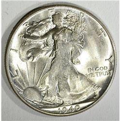 1940-S WALKING LIBERTY HALF DOLLAR, CH BU