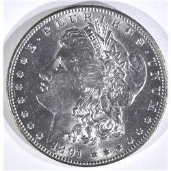 1891-S MORGAN DOLLAR, CH BU