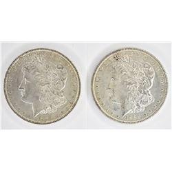 1885 & 1886 CH BU MORGAN DOLLARS