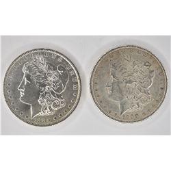 1885-O & 1900 CH BU MORGAN DOLLARS