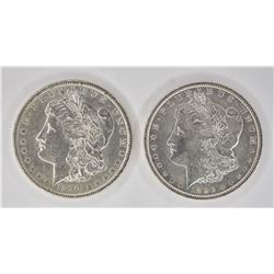 1890 & 1896 CH BU MORGAN DOLLARS