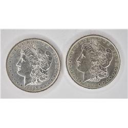 1887 & 1900 CH BU MORGAN DOLLARS