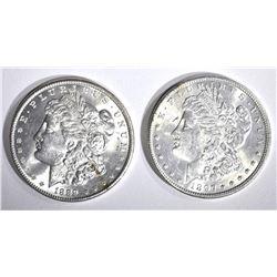 1889 & 1897 CH BU MORGAN DOLLARS