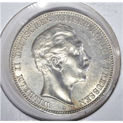 1912A SILVER 3 MARKS PRUSSIA