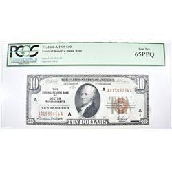 1929 $10 FEDERAL RESERVE BANK NOTE