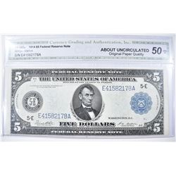 1914 $5 FEDERAL RESERVE NOTE FR-863a