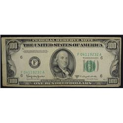 $100 FEDERAL RESERVE NOTE CIRC 1950-D