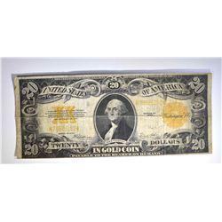 1922 $20.00 GOLD CERTIFICATE, FINE
