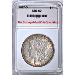 1897-O MORGAN DOLLAR, TDCS UNC