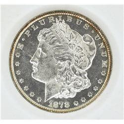 1878 8 TF MORGAN DOLLAR CH BU PL