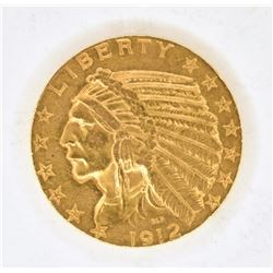 1912-S $5 GOLD INDIAN BU