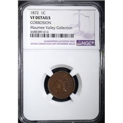 1872 INDIAN HEAD CENT NGC VF DETAILS