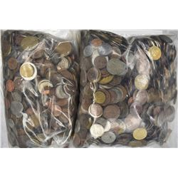 23 POUNDS WELL MIXED FOREIGN COINS