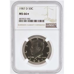 1987-D KENNEDY HALF DOLLAR, NGC MS-66*
