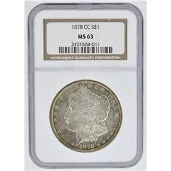 1878-CC MORGAN DOLLAR, NGC MS-63