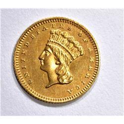 1868 $1 GOLD TYPE 3 CH BU