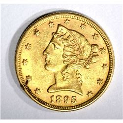 1895 $5.00 GOLD LIBERTY  AU