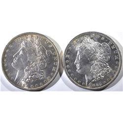 1884-O & 1885-O CH BU MORGAN DOLLARS
