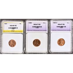 3 - LINCOLN CENTS:
