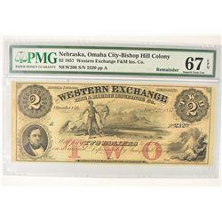 1857 $2.00 NEBRASKA, OMAHA CITY
