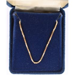 """14kt Yellow Gold 18"""" Box Link Chain Necklace"""