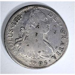 1795 MEXICO 8 REALES chopmarked