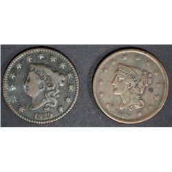 1829 FINE & 1839 VF porosity rev LARGE CENTS